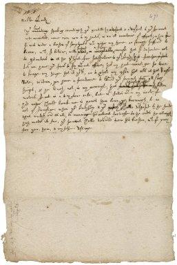 Letter from Robert Bennet to Lady Ann Basset : draft