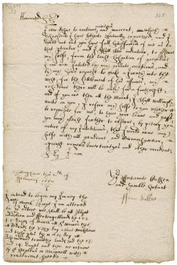 Letter from Francis Buller, Shillingham, to Colonel Robert Bennet and Colonel Anthony Rous (Rowse) or either of them