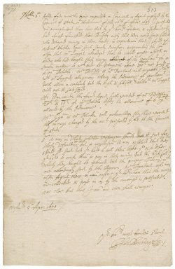 Letter from John Bunbury, Westminster, to Colonel Robert Bennet