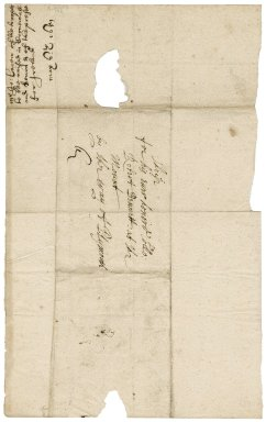 Letter from John Carew to Colonel Robert Bennet at St. Michael's Mount