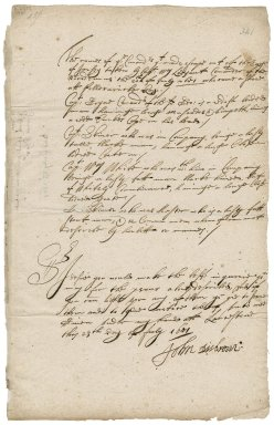 Letter from Major-General Desborough, Launceston, to Robert Bennet
