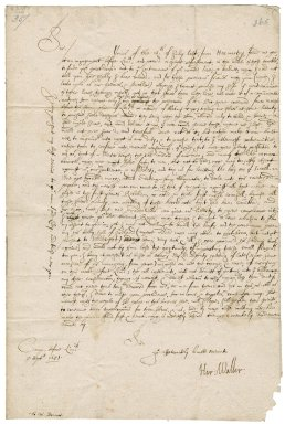Letter from Sir Hardress Waller at the camp before Limerick to Colonel Robert Bennet, Hexworthy