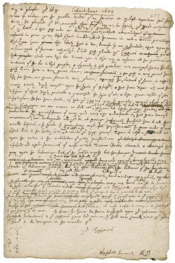Letter from Robert Bennet to the lord protector Oliver Cromwell : draft