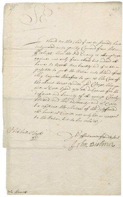 Letter from John Desborough, Whitehall, to Colonel Robert Bennet