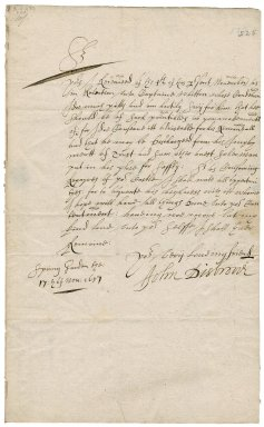 Letter from General John Desborough, Spring Garden, to Colonel Robert Bennet, Cornwall