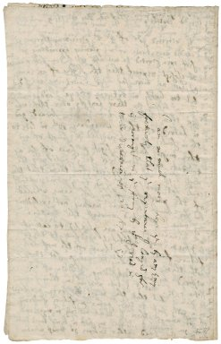 """Letter from (?) Vernon, Ford, Ireland, to his """"brother"""" Colonel Robert Bennet, M.P."""