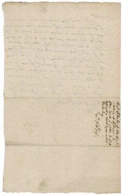 Letter from Captain Dego Cloke to Robert Bennet