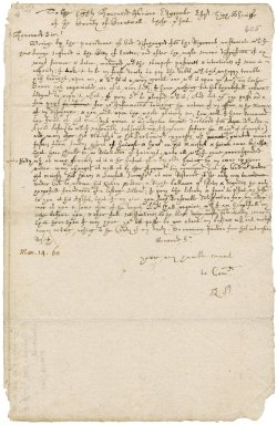 Letter from Robert Bennet to Pierce Edgcumbe, high sheriff of Cornwall : draft