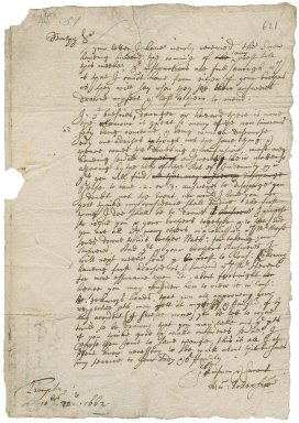 Letter from Sir Henry Pollexfen, Inner Temple, to Robert Bennet