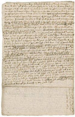 Letter from Robert Bennet, Hexworthy, to Sir Henry Pollexfen of the Inner Temple : draft