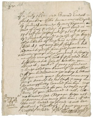 Letter from Samuel Enys, Penryn, to Robert Bennet?