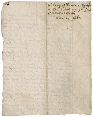 Letter from Samuel Enys, Penryn, to Robert Bennet?