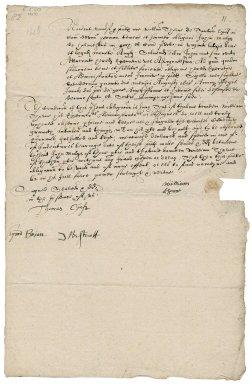 Bond from William Thorne of Bishops-Tawton (Tawton Epis'), Devon, yeoman, to John Mulys of Halmpstone (Halmeston) in the said parish