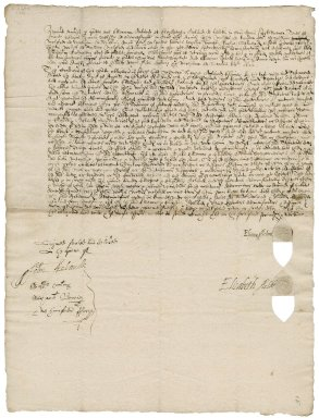 Bond from Elinor Acland and Elizabeth Acland of Landkey, Devon, executors of the will of Hugh Acland, their father, to James Welshe of Barnstaple, Devon, John Mulys of London and William Molford of Northam, Devon, overseers of the will of Hugh Acland, Esq.