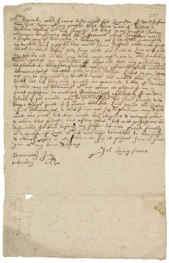 Letter from Robert Bennet to William Edgcumbe : draft