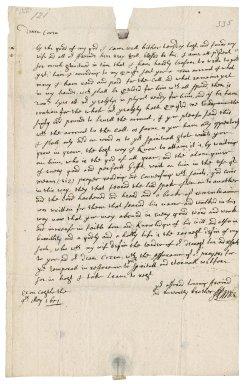 Letter from Lieutenant J. Larke, Exeter Castle, to Mrs. Ann Bennet, Hexworthy