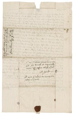 Letter from Lieutenant J. Larke, Exeter Castle, to Mrs. Ann Bennet, Hexworthy