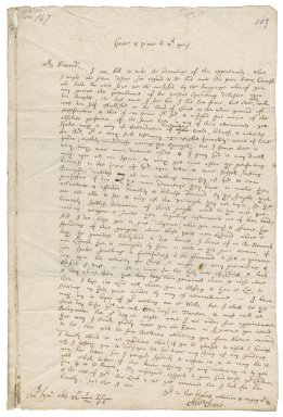 Letter from Abraham Cheare, Plymouth