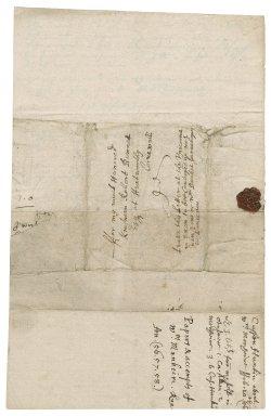 Letter from Joseph Hunkyn, Westminster, to Robert Bennet, Hexworthy