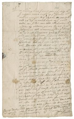 Letter from William Menheire, Worcester House, to Colonel Joseph Hunkyn (Hunkin), King St., London?
