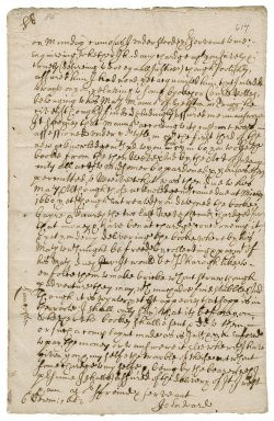 Letter from John Ward to Robert Bennet