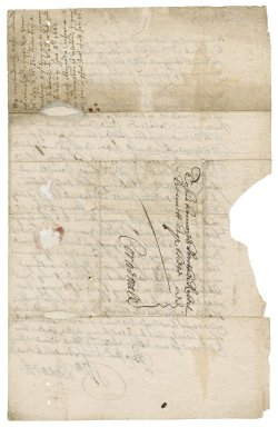 Letter from William Bennet, London, to Robert Bennet, Cornwall