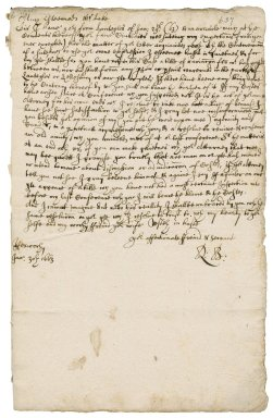 Letter from Robert Bennet, Hexworthy, to James Lake : draft