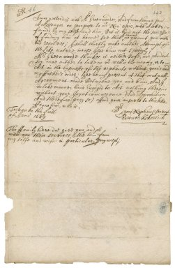 Letter from Edward Kekewich, Trehawke (Trekauke) to Robert Bennet, Hampstead