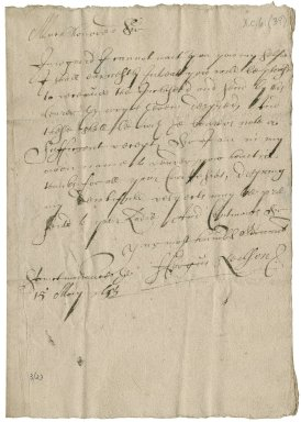 Letter from Fergus Neilson to Patrick Rattray of Craighall, Saint Monance