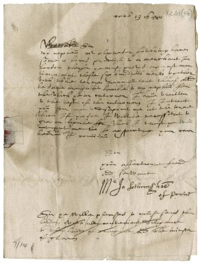 Letter from John Fotheringham of Powrie to Patrick Rattray of Craighall