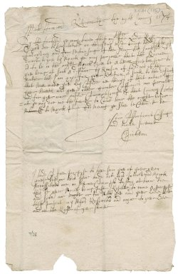 Letter from James Crichton of Ruthven to Patrick Rattray of Craighall