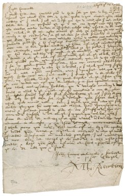 Letter from Thomas Robertson, Minister of Alyth, to Patrick Rattray of Craighall, Alyth