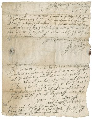 Letter from John Ogilvy of Balfour to James Rattray of Craighall, in a letter to James Rattray minister of St. Monance, Blakstoun