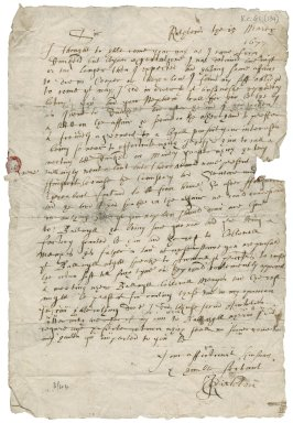 Letter from J. Ruthven to Patrick Rattray of Craighall, Ruthven