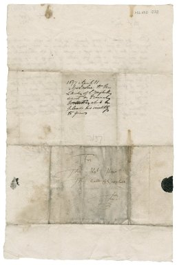Letter from [Harry] Malcolm [Minister of Bendochy?] to James Rattray of Craighall