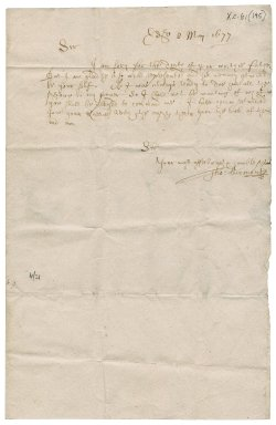 Letter from Thomas Learmonth to James Rattray of Craighall, Edinburgh