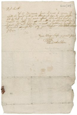 Letter from William Lindsay, Bishop of Dunkeld, to James Rattray of Craighall