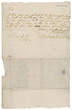 Letter from Earl of Kinghorne to James Rattray of Craighall, Edinburgh