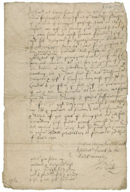 Letter from James 6th Lord Ogilvy to George Drummond of Blair, Fernwall