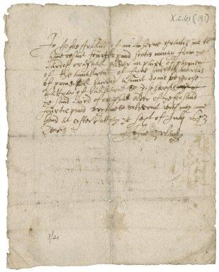 Receipt from John Ireland of Milnhorne to David Rattray of Craighall