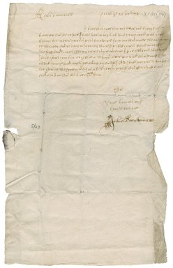 Letter from John Davidson to Patrick Rattray of Craighall, Perth