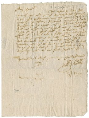 Letter from John? Lammie to Patrick Rattray of Craighall, Pittadie