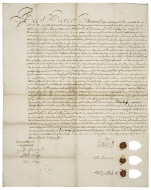 Declaration by John Berners and others that they have consented to the settlement made by Sir Robert Rich of a debt for which William, now Earl of Devonshire, and Charles, Lord Clifford had been bound to Sir Charles Rich