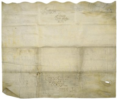 Counterpart of the Assignment of the mortgage of a messuage in the parish of St. Martins-in-the-fields and St. Pauls, Covent Garden, London, by Cope Rich, since deceased, from Sir Robert to Katherine Slater, widow, and others