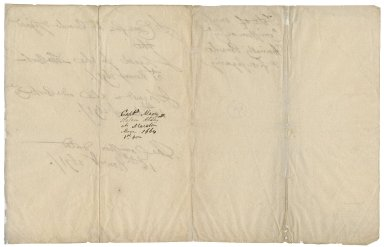 Autograph note on the date of Sir Robert Rich's (1648-1699) commission and of his first signing in the letter book and order book