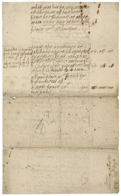 Note of the money which came to Lady Mary Rich from her mother, Lady Elizabeth Rich, on her death, and of other money
