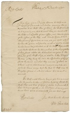Letter from Sir Charles Hedges to Sir Robert Rich