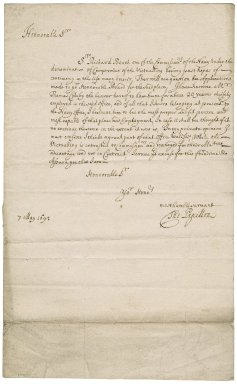 Letter from Thomas Papillon to Sir Robert Rich