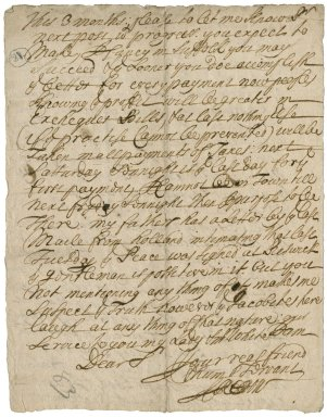 Letter from Sir Isaac Rebow, Bath, to Sir Robert Rich