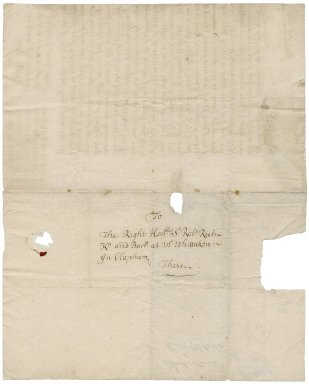Letter from Nathaniel Rich (nephew) to Sir Robert Rich